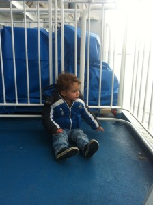Leo on the ferry
